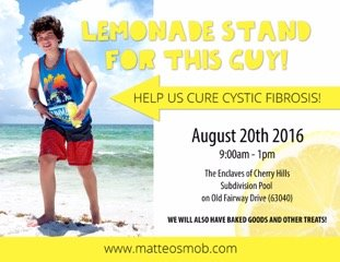 Lemonade Stand for this Guy - August 20, 2016!