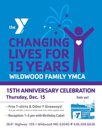 Celebrate 15 years of the Wildwood Family YMCA - December 15, 2016