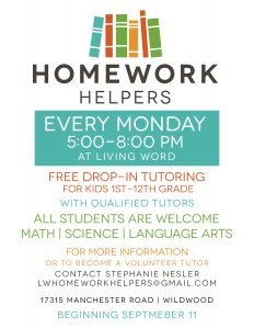 Homework Helpers - Living Word Church