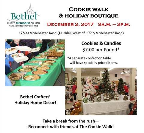 Bethel United Methodist Church - Cookie Walk and Holiday Boutique