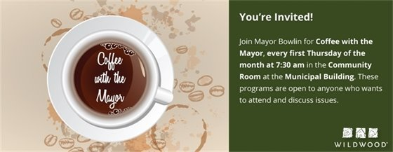 Coffee with the Mayor - March 1, 2018 - 7:30 a.m.