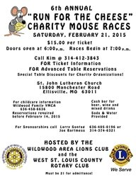 """Wildwood Area Lions Club – 6th Annual """"Run for the Cheese"""" Charity Mouse Races"""