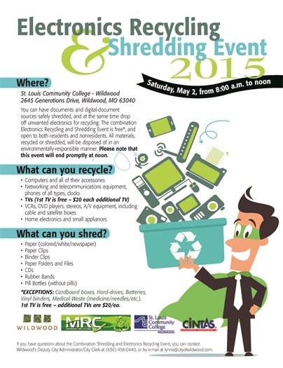 Electronics Recycling & Shredding Event 2015