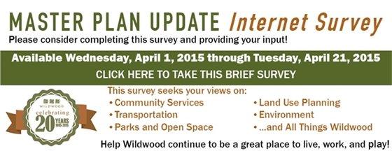 Master Plan Update Internet Survey