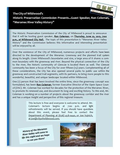 Meramec River Valley History