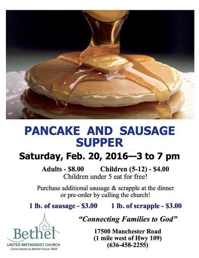 Pancake and Sausage Supper