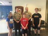 Schneider Children with County Police