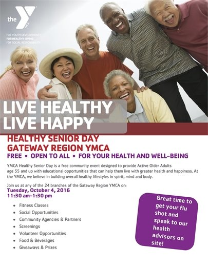 Healthy Senior Day - Tuesday, October 4, 2016