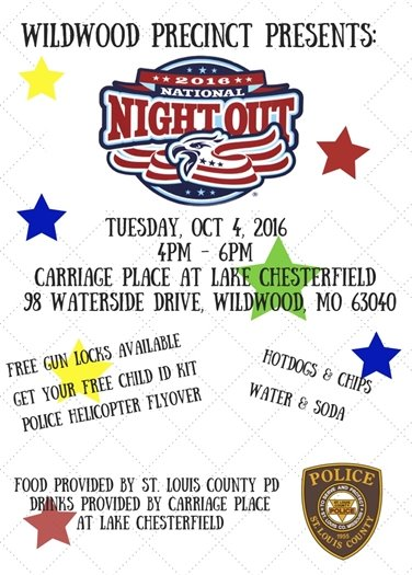 2016 National Night Out - October 4, 2016