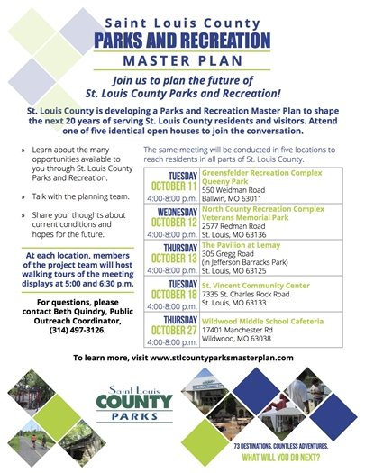 St. Louis County Parks and Recreation Master Plan Sessions