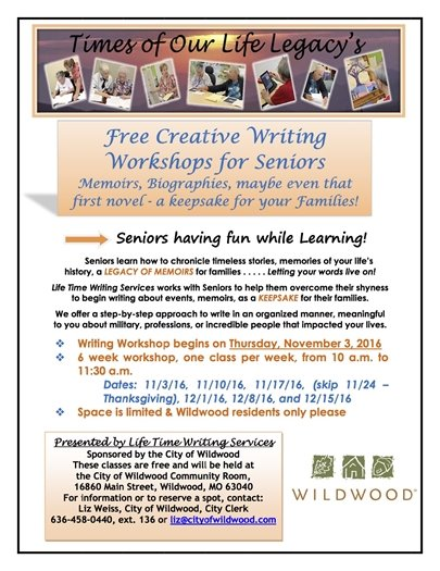 Free Creative Writing Workshops for Seniors