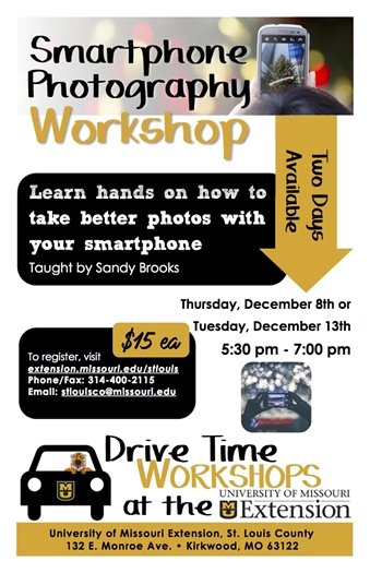 MU Extension - Smart Photography Workshop - December 8 or 13, 2016