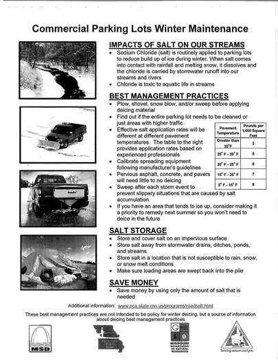 Tips on Maintaining Parking Lots in the Winter Months