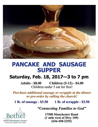 Bethel United Methodist Church - Pancake and Sausage Supper