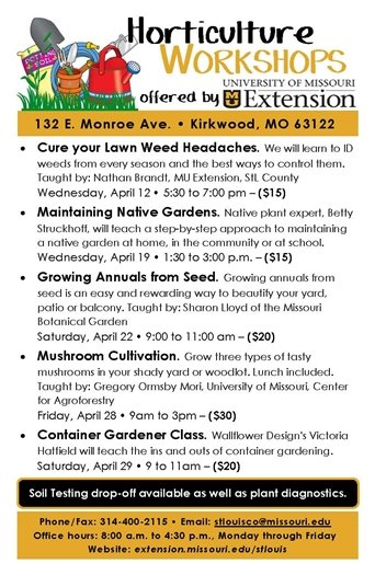 University of Missouri Extension - Horticulture Workshops