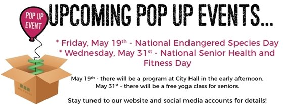 May 2017 Pop Up Events by the City of Wildwood