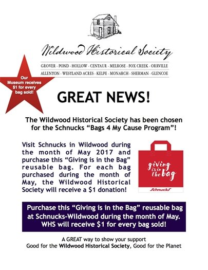 Wildwood Historical Society - Giving is in the Bag
