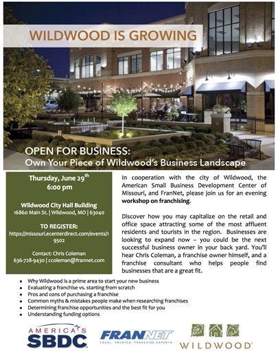 Open for Business - Workshop on Franchising - June 29, 2017