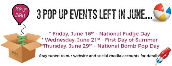 Wildwood Pop Up Events in June 2017