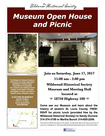 Wildwood Historical Society Open House and Picnic - June 17, 2017