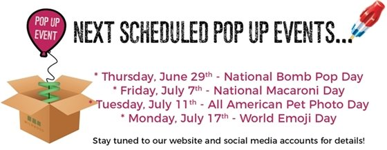 Wildwood Pop Up Events - June 29, 2017 through July 17, 2017