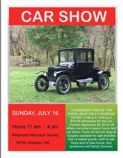 Car Show - Wildwood Historical Society - July 16, 2017