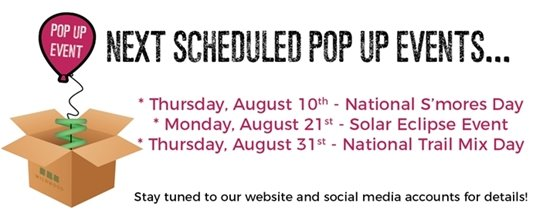 Wildwood Pop Up Events for August 2017