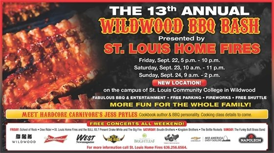 Wildwood BBQ Bash - September 22 through 24, 2017 @ St. Louis Community College - Wildwood Campus