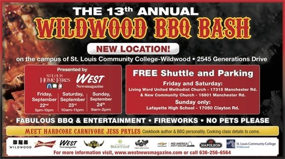 Wildwood BBQ Bash - September 22 through 24 at St. Louis Community College - Wildwood Campus