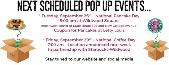 This Week's Pop Up Events - City of Wildwood
