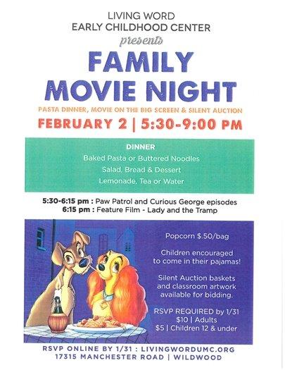 Family Movie Night - February 2, 2018 - Living Word Church