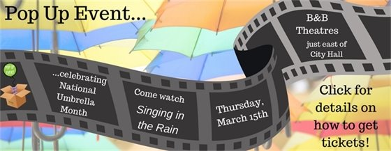 Pop Up Event - Singing in the Rain - March 15, 2018 by the City of Wildwood