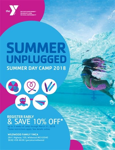 SUMMER UNPLUGGED - Wildwood Family YMCA - register early and save