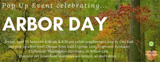 Pop Up Event - City of Wildwood - Arbor Day, April 27, 2018
