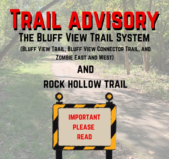 Trail Closures this Weekend - September 18 and 19, 2021