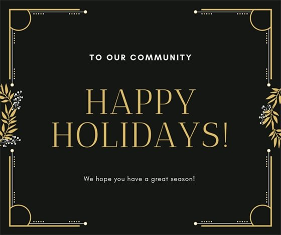 Happy Holidays from the City of Wildwood
