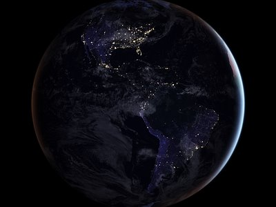 At Night --- From Space --- It's Still a Beautiful Place