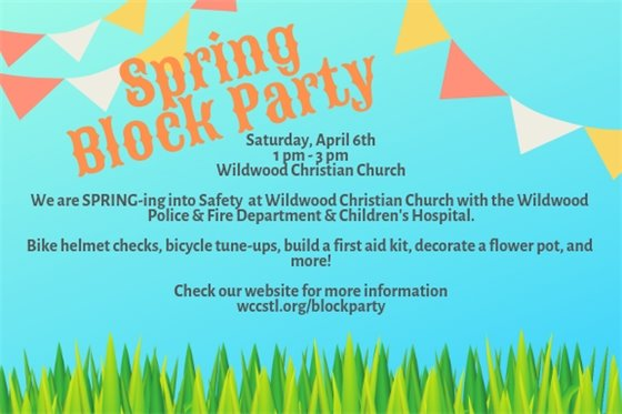 Wildwood Christian Church's Spring Block Party - April 6, 2019