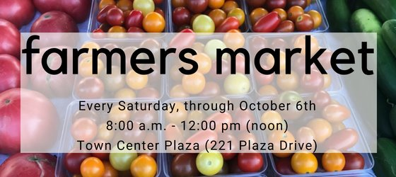 Farmers Market - Every Saturday through October 6th