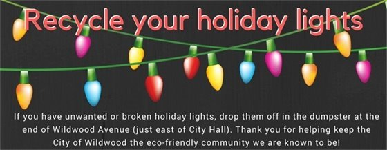 Recycle Those Broken or Old Holiday Lights