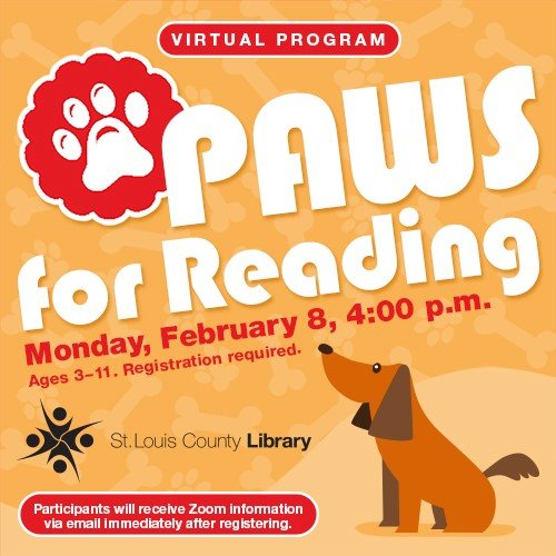 PAWS for Reading - STL County Library District - February 4, 2021