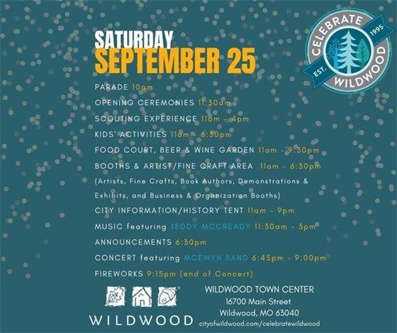 Schedule of Events - Celebrate Wildwood
