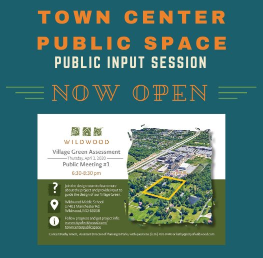 Town Center Public Space - Public Input Session - Now Open