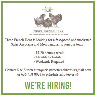 Three French Hens - We're Hiring