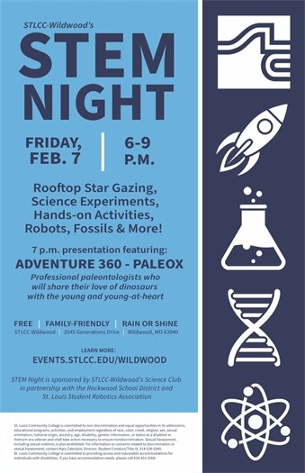 STLCC-WILDWOOD - STEM Night - February 7, 2020 - 6 to 9 P.M.