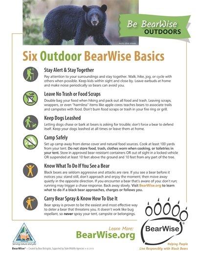 Be BearWise Basics - Outdoor