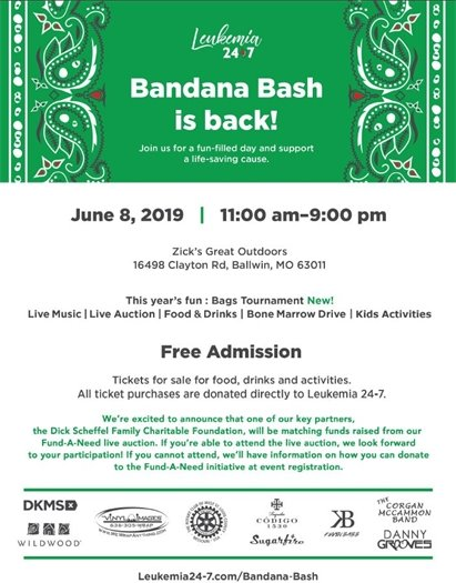 Bandana Bash is Back - June 8, 2019