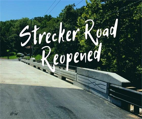 Strecker Road Bridge Opens Ahead of Schedule