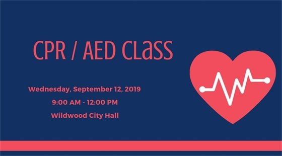 CPR Class @ City Hall - September 12, 2019