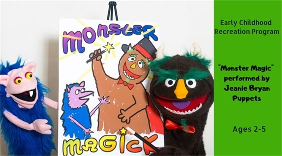 Puppet Show - Early Childhood Recreation Program - March 27 and 28, 2019